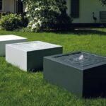 Designerskie fontanny ogrodowe podświetlane